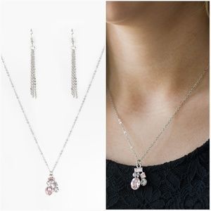 paparazzi Jewelry - TIME TO BE TIMELESS PINK NECKLACE/EARRING SET